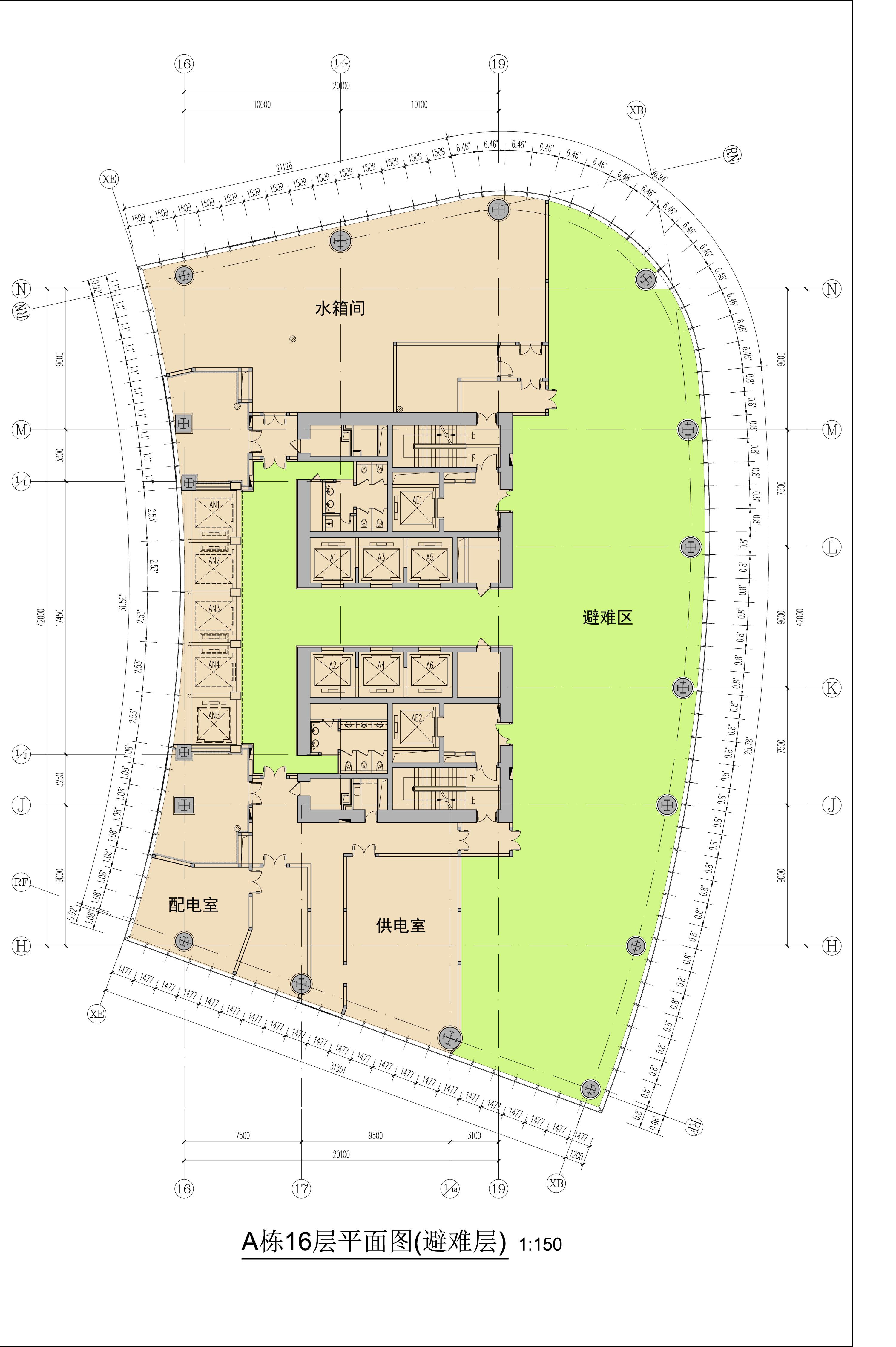 浦项中心西塔3层平面图